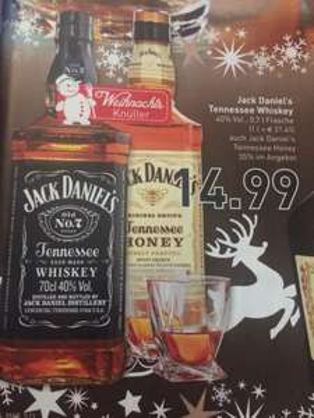 [Marktkauf & Edeka] Jack Daniel's Tennessee Whiskey und Honey für 14.99 € ab 22.12