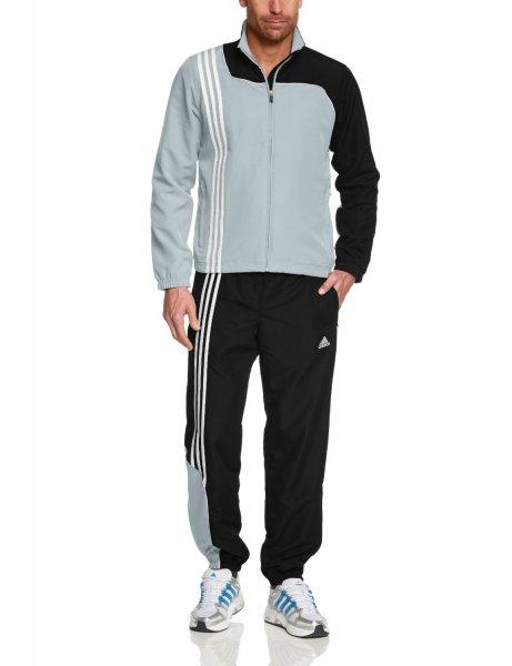 adidas Herren Trainingsanzug Sereno 11 Silber Schwarz @ AMAZON PRIME