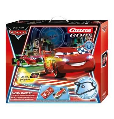 Carrera Go!!! Disney Cars Rennbahn Neon Racers