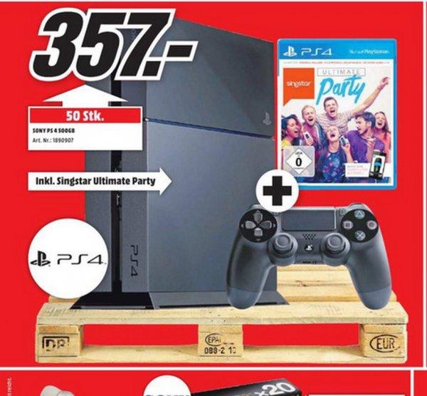 Playstation 4 + SingStar: Ultimate Party für 357€ LOKAL @ Mediamarkt Aachen