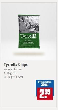 [REWE KW52] Tyrrells Chips für 0,89 € (Angebot + Scondoo)