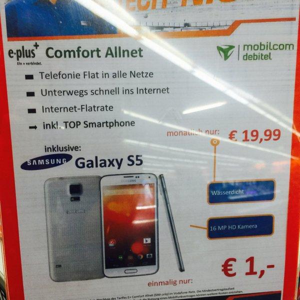 Samsung Galaxy S5 19,99 mtl. Einmalig 1 Euro