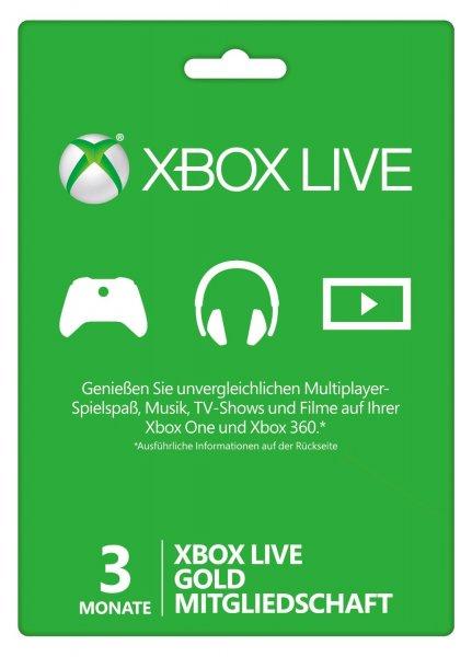 3 Monate Xbox Live Gold für Lau - Nur solange der Vorrat reicht [Facebook!]