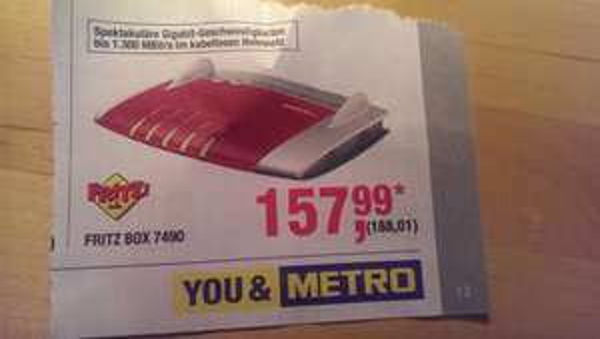 [Metro/Offline] AVM Fritzbox 7490 für 188,01 EUR