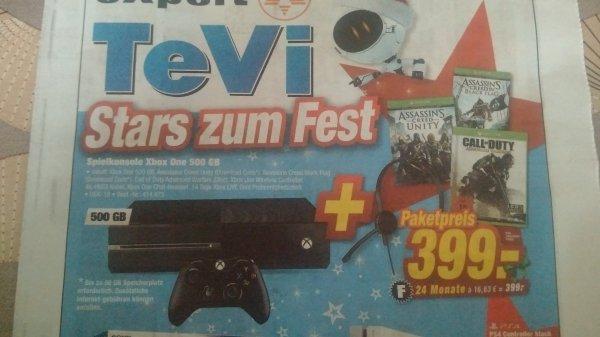 Bundesweit Expert: Xbox One Bundle AC Unity, AC Black Flag, CoD AW u. Headset