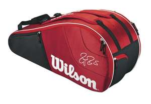 Wilson Tennistasche Federer Team 6 Pack Bag, Red/White für 35,74 @amazon.de