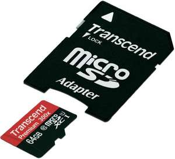 Transcend microSDXC-Karte 64 GB Class 10 mit Adapter ab 24,74€@voelkner