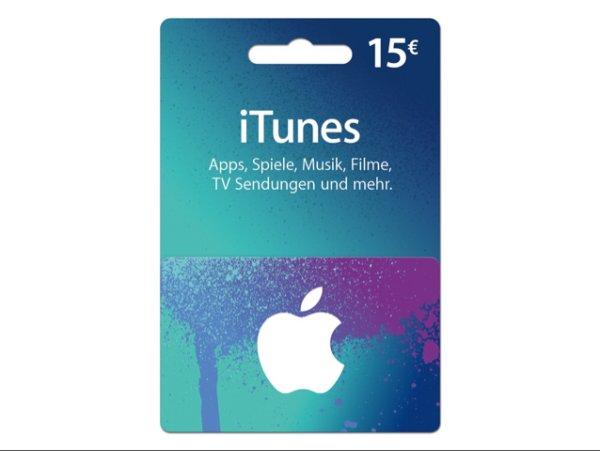 iTunes-Karte im Wert von 15 € für nur 10 € in allen Conrad-Filialen (nur offline)