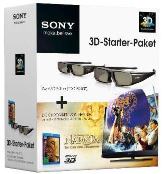 Sony 3D-Starterset,Narnia 3D Blu-ray & zwei 3D Brillen(TDG BR-100) für 70,94€ inkl. Versand @ Otto