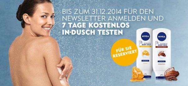 Nivea IN-Dusch 70 ml kostenlos bei Newsletter Anmeldung