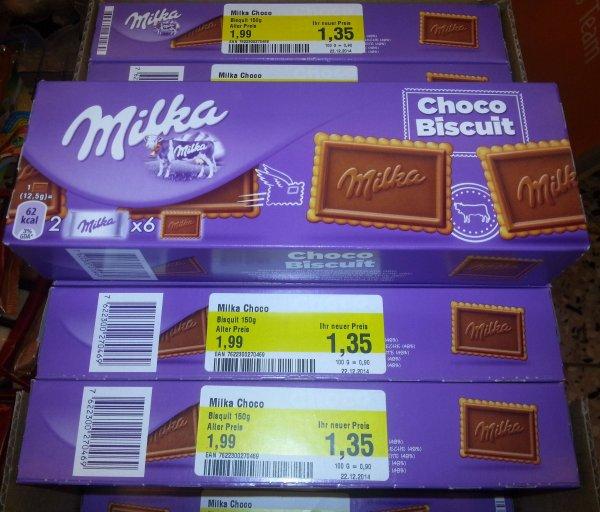 [GLOBUS MAINTAL] Milka Choco Biscuit 150g für nur 1,35€
