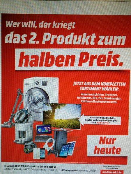[lokal] MediaMarkt Cottbus - 2.Artikel zum halben Preis