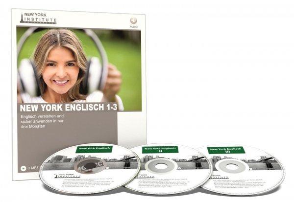New York Institute New York Englisch I, II und III - Englisch Audiosprachkurs für Anfänger und Fortgeschrittene