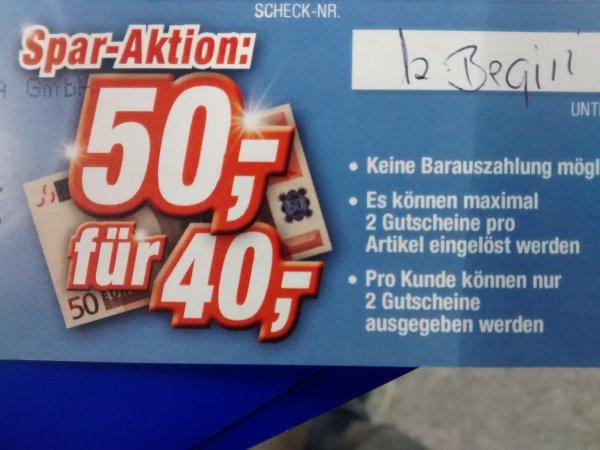 Lokal Bühl und Rastatt 50€ Geschenkgutschein für 40€