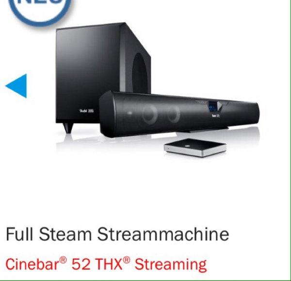 Teufel Cinebar 52 THX+Raumfeld Connector 2, 929,95€ inkl. Versand (oder- 10% auf alles)
