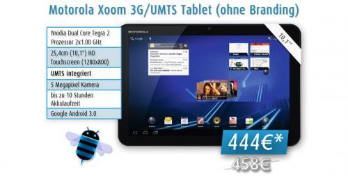 Motorola Xoom 3G/UMTS Tablet (ohne Branding) AKTION