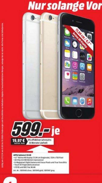 iPhone 6 16GB für 599€ LOKAL @ Mediamarkt Recklinghausen