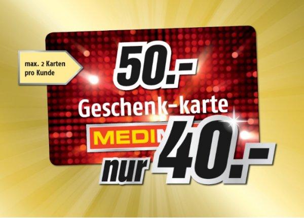 [lokal] MediMax Süd-Ost Geschenk-Karte 50 Euro für 40 Euro (max 2 p.P.) nur am 24.12.