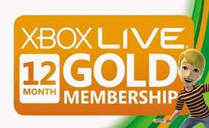 Xbox Live Gold 12 Monate für 33,33 bei Amazon.de