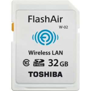 To­shi­ba SDCard 32 GB Flash Air Wifi Card Funk­ti­on weiß inkl. Vsk für 28 € > [meinpaket.de]