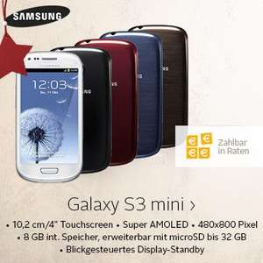 Technik-Fest bei Otto: Samsung Galaxy S III mini (GT-I8200N) für 149,00 Euro