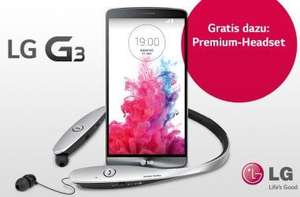 LG G3 32 GB plus Premium Headset bei Amazon.de für 400 €