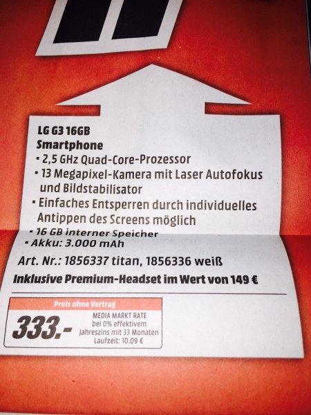 LG G3 für 333 Euro bei Media Markt in Duisburg