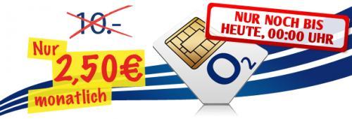 o2 Inklusivpaket 100 min 100 SMS für nur 2,50€ statt 10 € monatlich + 50 € für Telefonnr. mitnahme!