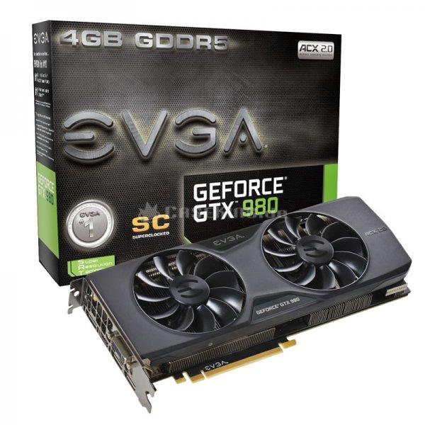 EVGA GeForce GTX 980 Superclocked ACX 2.0 zum Bestpreis - fast 40 Euro unter Vergleich