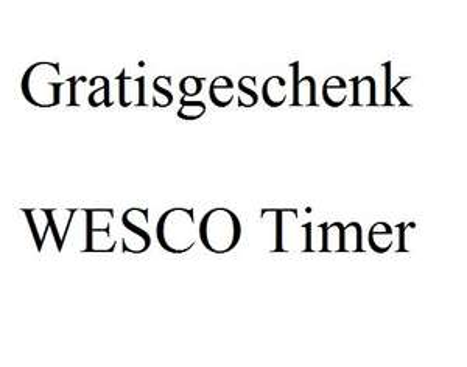 [WESCO] Gratis Artikel für Neuregistrierung: WESCO Timer