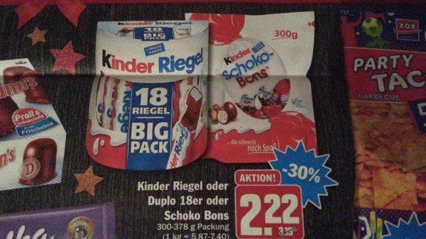 [HIT offline - vermutlich bundesweit] kinder-Riegel 18er BIG PACK für 2.22 €