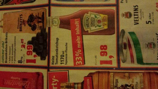 HEINZ Ketchup 1170 ml für 1,68 € (Lokal Thomas Philipps + Scondoo)