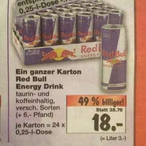 [Bundesweit] [Kaufland]  24 mal  Red Bull Energy Drink 250ml 18€(75 cent pro Dose) ab 29.12.14 07:00 Uhr