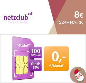 Netzclub Allnet Clever buchen 20 Euro Amazon + 8 Euro Cashback