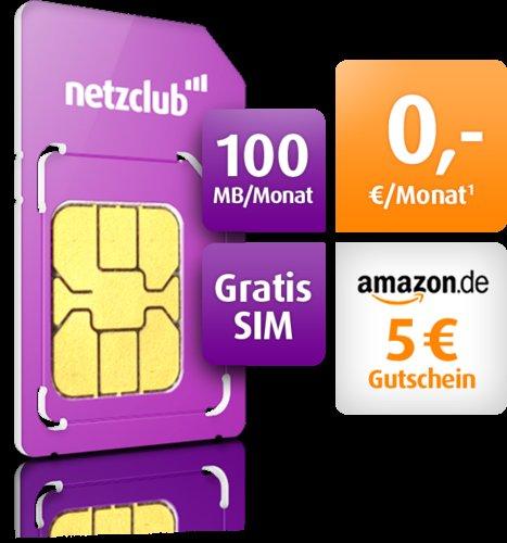 Sim Karte von Netzclub mit 100 MB (400 MB ersten Monat)  !!!