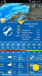 GooglePlaystore: WeatherPro Wetter App aktuell im Weihnachtssale wieder für  0,99 €