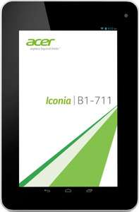 Acer Iconia B1-711 17,8 cm (7 Zoll) Tablet-PC (ARM MTK MT8389, 1,2GHz, 1GB RAM, 16GB eMMC, WiFi, 3G, UTMS, Android 4.2) rot
