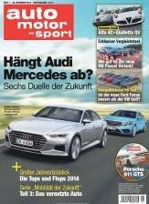 Zeitschrift auto motor und sport - 1 Ausgabe kostenlos ohne weitere Verpflichtung