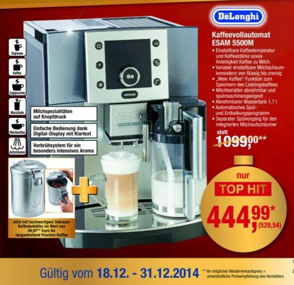 DeLonghi Esam 5500 für (444,99 Netto) Euro in Metro