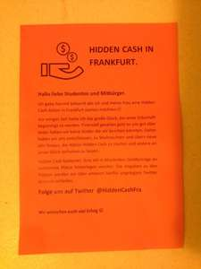 [Frankfurt/Main] Hiddencash