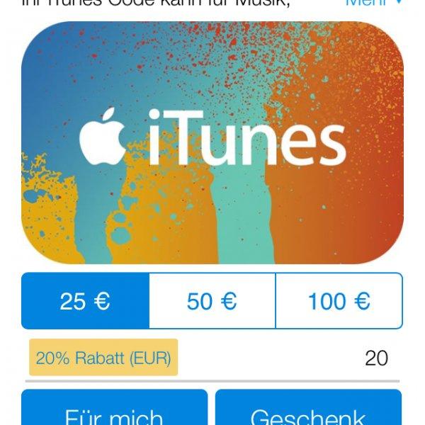 Stand 12:35 noch immer in Verlängerung! Aktion noch nicht beendet! 20% auf iTunes Guthaben @ Paypal Digital Gifts