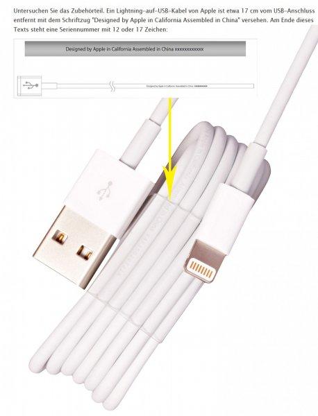 [ebay] Original Apple MD818ZM/A Lightning auf USB-Kabel(1m) 6,66€