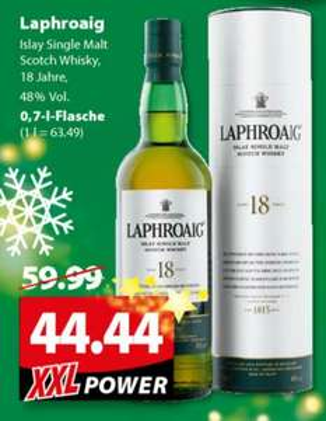 [lokal Oldenburg] Laphroaig 18 Jahre (1 x 0.7 l) @ Famila XXL