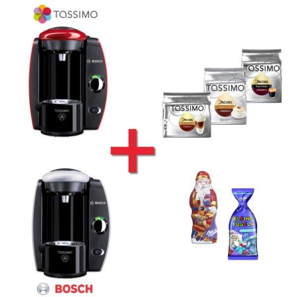 Bosch Tassimo T40 Heißgetränkemaschine + Milka Set + 3x T Disc Packung für  29 Euro