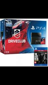 Black/White Ps4 + Driveclub/Little Big Planet 3+ The Last of Us (download) @ game.co.uk