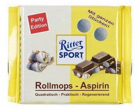 [LIDL] Ritter Sport 250g-Tafel (versch. Sorten) am 02.01./03.01.2015 für 1,49 €