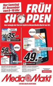 [LOKAL] Media Markt Frühshoppen am 27.12.14: Assassin's Creed: Unity (PS4) für 35€, Archos 40 Cesium für 49€, Braun 350cc Series 3 für 59€ [Aachen Herzogenrath Eschweiler Hückelhoven Mönchengladbach]
