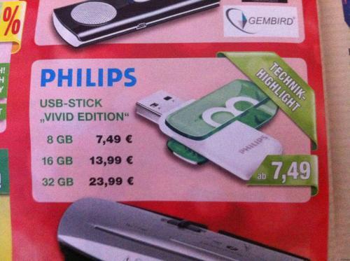 "USB-Stick Philips ""Vivid Editon"" 8/16/32 GB | Marktkauf"
