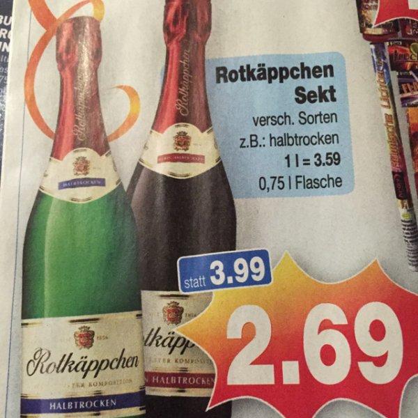 2,69€ Rotkäppchen Sekt ver. Sorten 0,75l [Kaufpark]