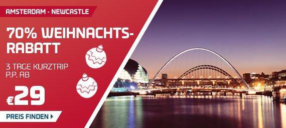 Kreuzfahrt 3 Tage - Von Amsterdam nach Newcastle ( für 2 Personen) für 58 € @ DFDS Seaways